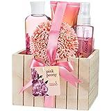 Pink Peony Spa Bath Gift Set Box