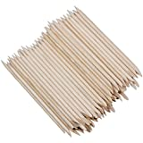 DMtse 100 Pcs Nail Art Orange Wood Stick Sticks Cuticle Pusher Remover Manicure Pedicure Tool