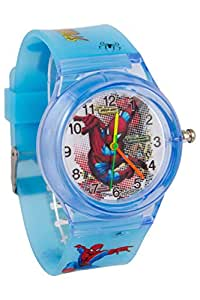 Addic Spider Man Sky Blue Color Watch With Printed Dial Watch For Children
