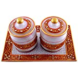 Craft And Craft Handicrafts's Marble Dry Fruit Set - B00LX6DHCI