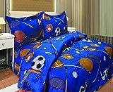 Twin Microfiber Kids Sports Comforter Set