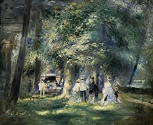 Corbi Wall Decals In the Park of Saint-cloud by Pierre-auguste Renoir - 30 inches x 25 inches - Peel and Stick Removable Graphic