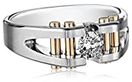 Men's 14k Two-Tone Gold Split Shank Diamond Ring (1/2 cttw, H-I Color, I1-I2 Clarity)