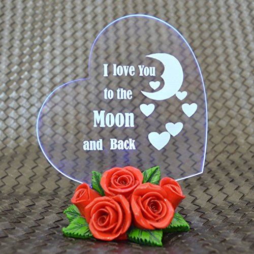 Giftgarden® Wedding Cake Toppers Heart Shaped with LED Light