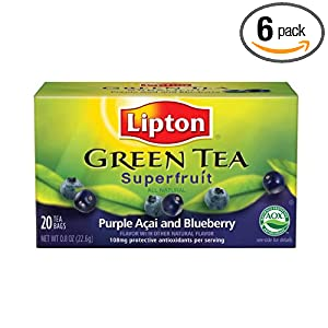 Amazon - 6-Packs of 20-Count Lipton Green (3 flavors) - $6