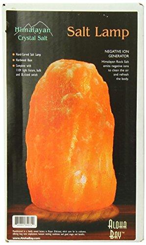 Salt Lamp Benefits Reviews : Himalayan Salt Solution:Himalayan Salt Lamp 10 Inch Wood Bas - on Sale forUSD 37.25