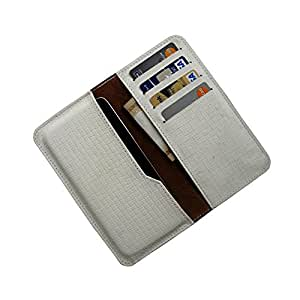 i-KitPit : PU Leather Wallet Flip Pouch Case For Gionee Marathon M2 (WHITE)