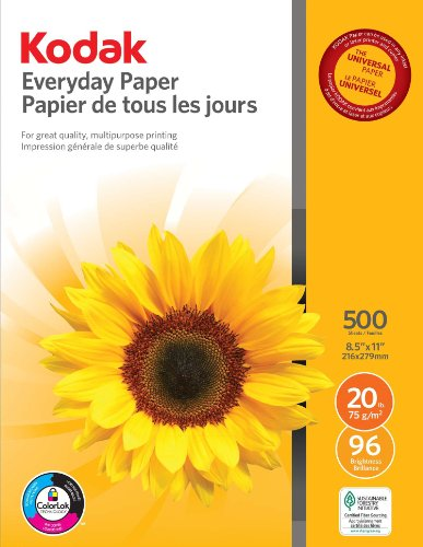 Kodak Everyday Paper for Inkjet or Laser Printers,