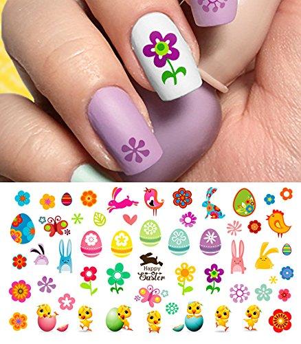 "Easter Nail Decals Assortment #2 Water Slide Nail Art Decals - Salon Quality 5.5"" X 3"" Sheet!"