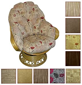 Gilda® Conservatory Furniture Replacement Swivel Rocker Cushions Only - Premier Fabrics (Dean Gold) from Gilda Ltd