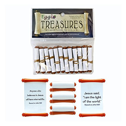 Egglo Scripture Scrolls (12 pack) - A Fun Way to Learn Scripture for Your Kids