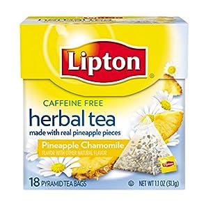 Lipton Herbal Tea Pyramids, Pineapple Chamomile 18 ct (pack of 6)