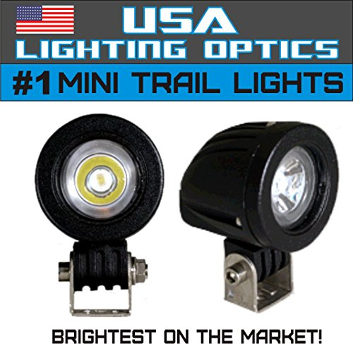 #1 Mini Trail Lights By Usa Lighting Optics 20W Cree Led Spot Motorcycle Offroad Dual Sport Enduro Fog Trail Head Light For Xr Drz Exc Dirt Bike Dual Sport Ktm