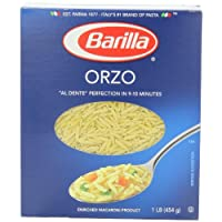 Barilla Orzo Pasta, 16 Ounce Boxes (Pack of 8)