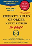 Roberts Rules of Order Newly Revised In Brief, 2nd edition (Roberts Rules of Order in Brief)