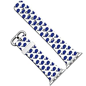 Apple Watch Band 42Mm,Apple Watch Strap Replacement 42Mm Blue Whale Pattern Art