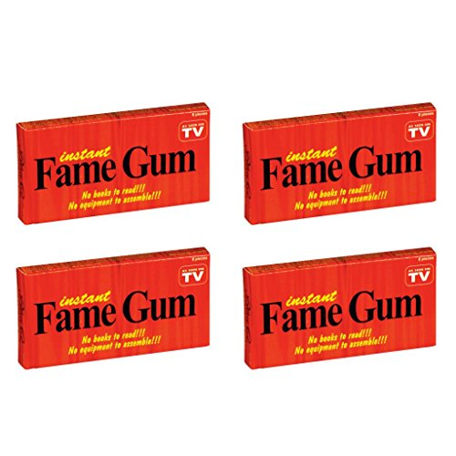 BlueQ Instant Fame Cinnamon Flavored Gum (4 packs per order)