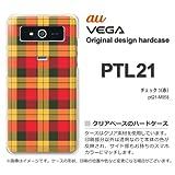 au VEGA PTL21 ケース VEGA PTL21 カバー ケース・ジャケット【チェック3(赤)/ptl21-M858】