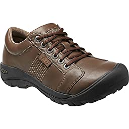 KEEN Men\'s Austin Shoe, Cascade Brown Full Grain, 12 M US