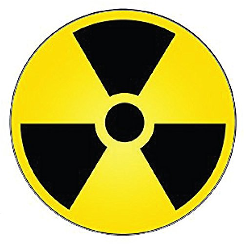 Nuclear Radiation Warning sign sticker decal 4