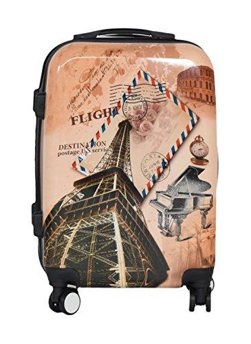 "20"" Paris Lightweight 4 Wheel Spinner Hard Shell Suitcase Luggage Trolley Set Cabin Case Sets Travel Hand (20 inch, Paris)"