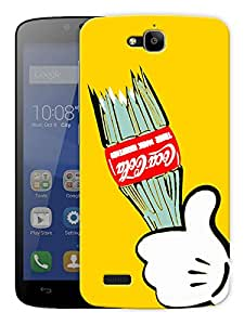 """Cola Love Printed Designer Mobile Back Cover For """"Huawei Honor Holly"""" By Humor Gang (3D, Matte Finish, Premium Quality, Protective Snap On Slim Hard Phone Case, Multi Color)"""