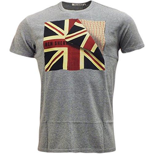 Ben Sherman -  T-shirt - Basic - Maniche corte  - Uomo grigio S