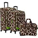 American Flyer Animal Print 3-piece Spinner Luggage Set EXCLUSIVE