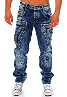 Cipo & Baxx Herren Jeans Straight Cut Used Style