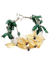 925 Silver Colorful Golden Rutile Gemstone Silver Bracelet For Women 10472