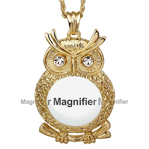 DC1989 Women's Pendant Necklace, Owl with Crystals Eyes, 25.5