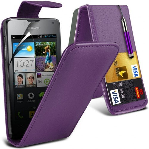 huawei-ascend-y300-leather-flip-case-cover-purpleplus-free-gift-screen-protector-and-a-stylus-pen-or