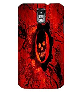PrintDhaba Skull D-4357 Back Case Cover for SAMSUNG GALAXY S5 (Multi-Coloured)