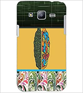 PrintDhaba Abstract Design D-5738 Back Case Cover for SAMSUNG GALAXY J2 (Multi-Coloured)