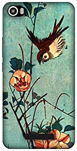 The Racoon Grip Titmouse and Camellias hard plastic printed back case for Lava Iris X8