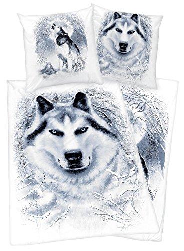 Spiral White Wolf Copripiumino bianco