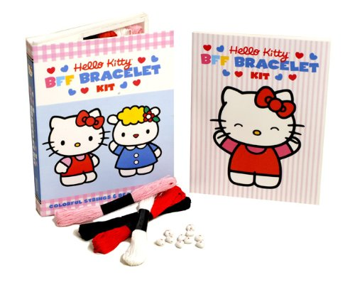 Hello Kitty Friendship Bracelet Kit: Colorful Strings & Beads Inside!