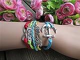 Ecloud Shop® DIY Niza coloridas Infinity Amistad Amor Ancla pulseras del encanto de cuero