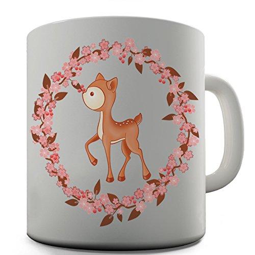 Twisted Envy fiori cervo in ceramica tazza regalo