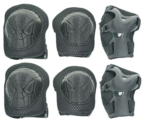 Cooplay-Small-Size-Elbow-Wrist-Knee-Pads-Protective-Gear-Like-Spiderman-Guard-for-Kids-Boy-Children-Skateboard-Bicycle-Ice-Skate-Roller-Skating-Cycling-Mini-Riding-and-Other-Extreme-Sports-Pack-of-6pc