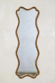 DUSX Peep Mirror, Metal, Antique Gold, 152.5 x 3.5 x 51 cm