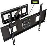 TecTake TV Wall Mount Bracket with cantilever arm tilt & swivel UP TO VESA 600x400 up to 80kg Distance to the wall 6,7cm FOR SAMSUNG LG PANASONIC PHILIPS TOSHIBA SONY etc 32-60 inch LED LCD PLASMA SCREENS