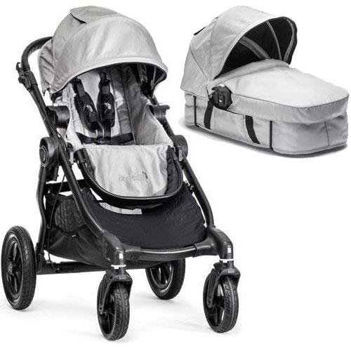 Baby Jogger - City Select Stroller with Bassinet - Silver