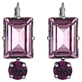 Elegance Earrings, light amethyst/silver-plated