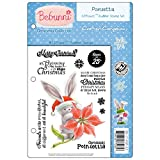 Crafter's Companion Bebunni EZMount Cling Stamp Set, 5.5-Inch by 8.5-Inch, Poinsettia
