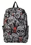 Zombie Attack Backpack Banned rucksack bag rock punk goth living dead GREY blood