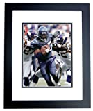 Shaun Alexander Autographed Seattle Seahawks 8x10 Action Photo BLACK CUSTOM FRAMED vs. Vikings at Amazon.com