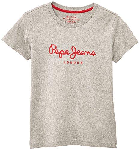 Pepe Jeans Jungen T-Shirt, ART, GR. 176 (Herstellergröße: 16 ans), Grau (Grey Marl)