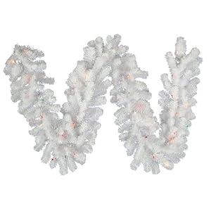 9' Prelit Crystal Garland Light Color: Multicolored Lights