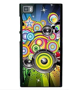 Music Graffiti 2D Hard Polycarbonate Designer Back Case Cover for Xiaomi Redmi Mi3